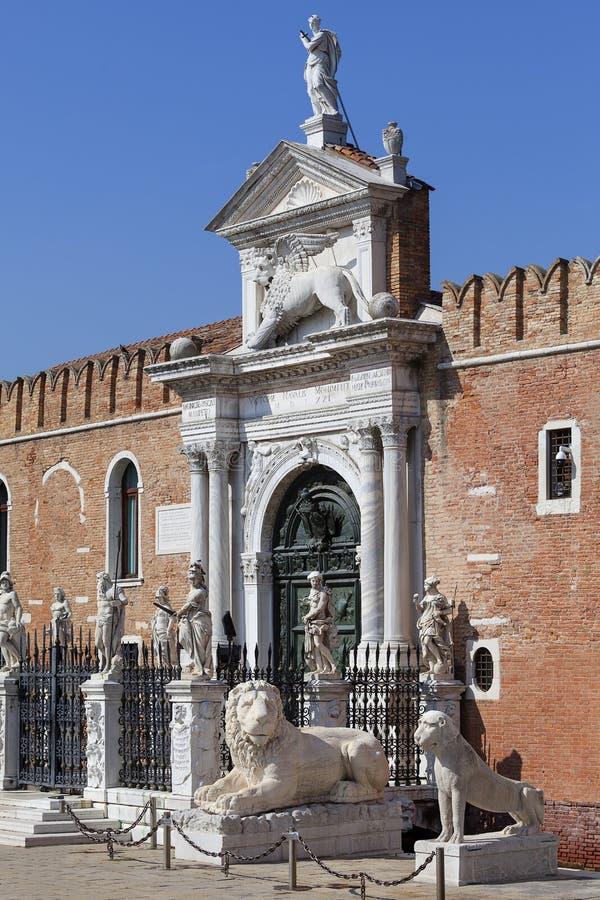 Arsenal veneciano, complejo de astilleros anteriores y arsenales, Venecia, Italia fotografía de archivo
