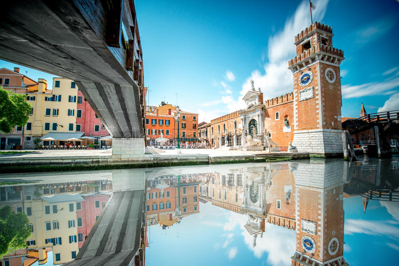 Arsenal Venetian em Veneza imagem de stock royalty free