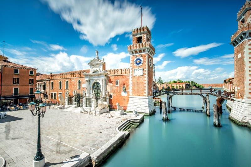 Arsenal Venetian em Veneza imagens de stock royalty free