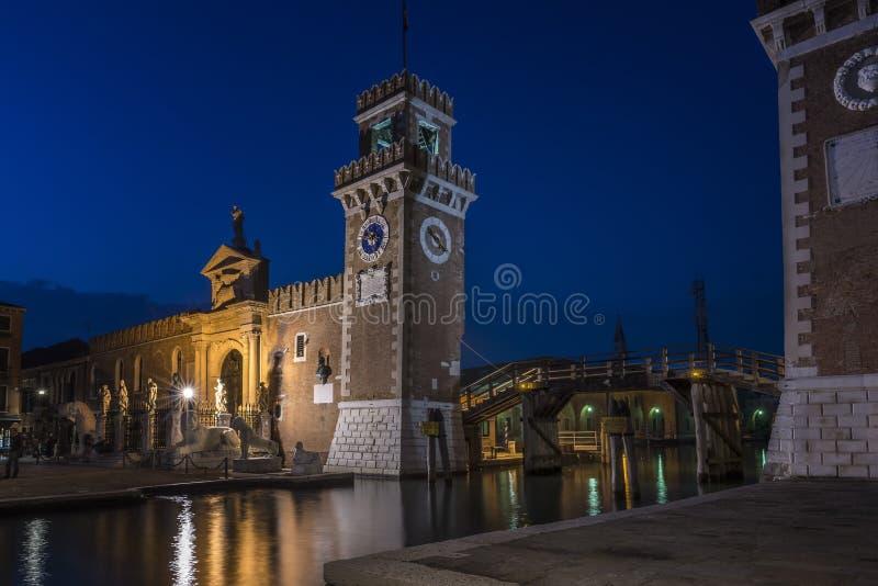 Arsenal von Venedig stockbilder