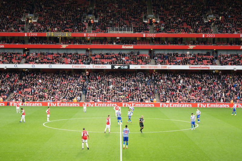 Arsenal Winning 1-0 to Queen Park Rangers stock photography