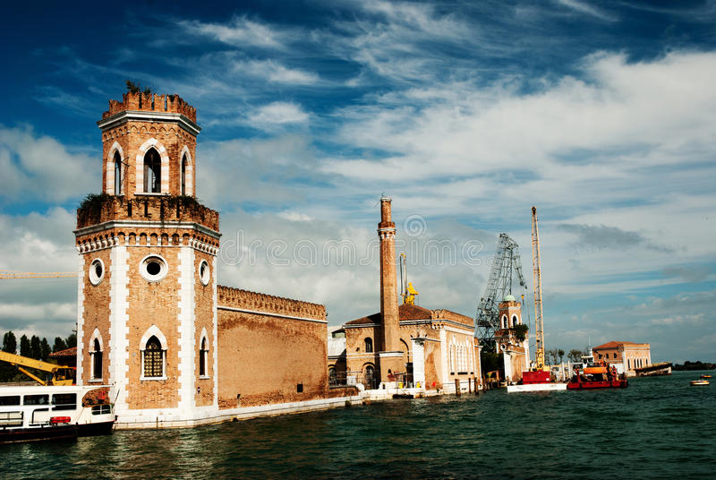 The Arsenale, Venice stock images