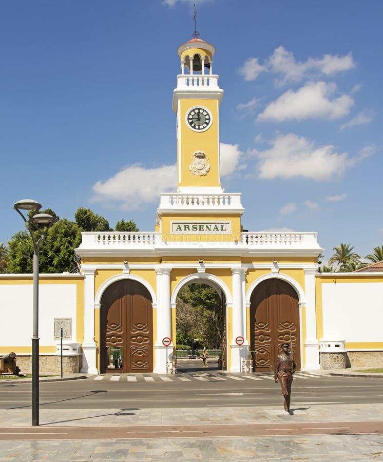 Arsenalen, Cartagena arkivbild