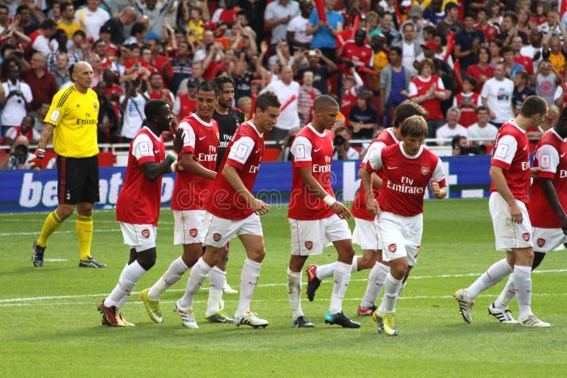 Arsenalzielfeier stockfotografie
