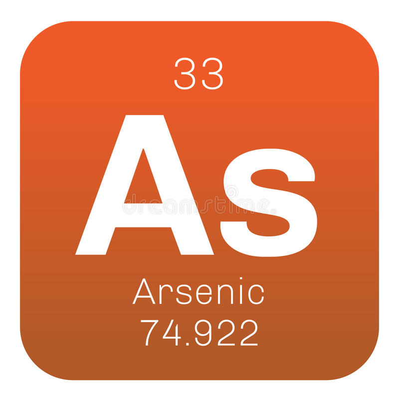 Arsenicum chemisch element royalty-vrije illustratie