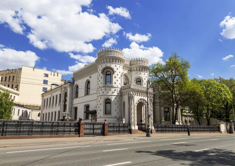 Arsenys Morozovs herrgård (mottaganden vid Utrikesdepartementet) i Moskva arkivfoto