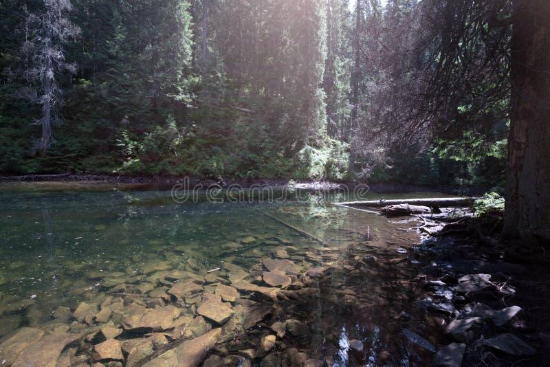 Arshytsya do lago mountain imagens de stock