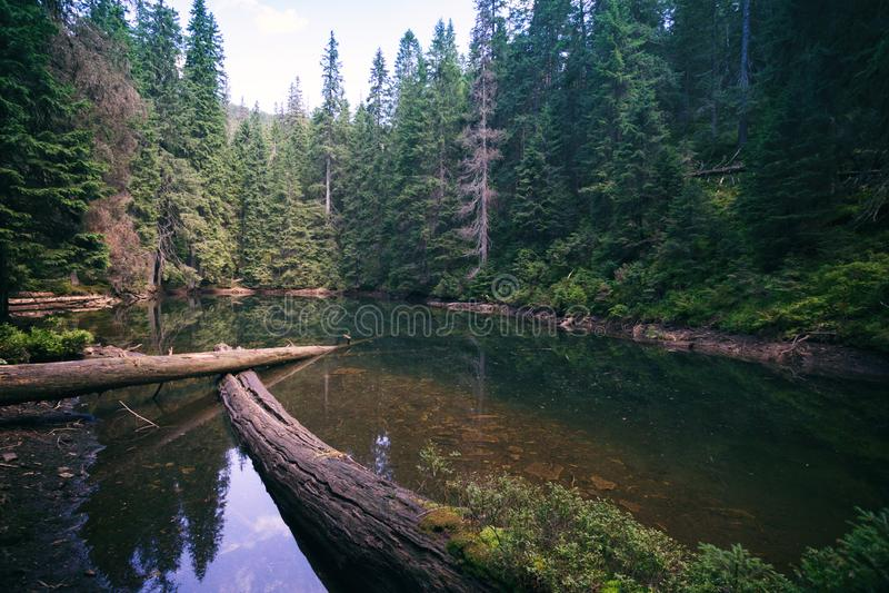 Arshytsya do lago mountain imagens de stock royalty free