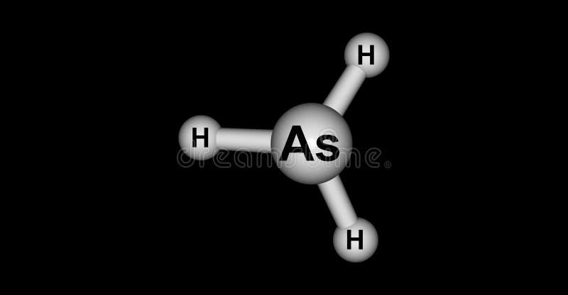 Arsine Molecular Structure Isolated On Black Stock Illustration