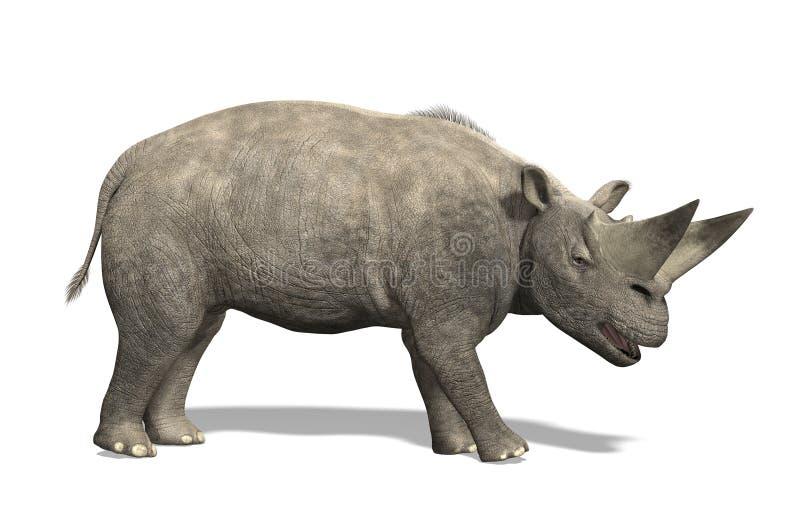 Arsinoitherium - mamífero extinto ilustración del vector