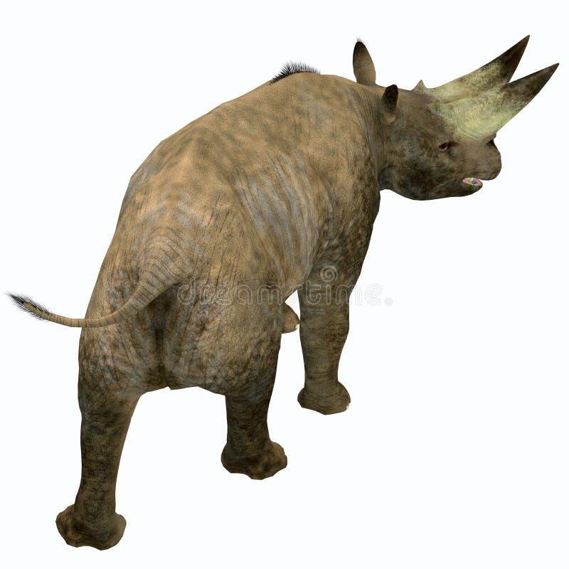Arsinoitherium ssaka ogon royalty ilustracja