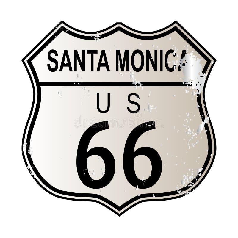 Artère 66 de Santa Monica illustration de vecteur