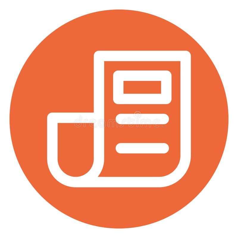 Artículo, blog Bold Vector Icon que puede ser fácilmente editado o modificado stock de ilustración