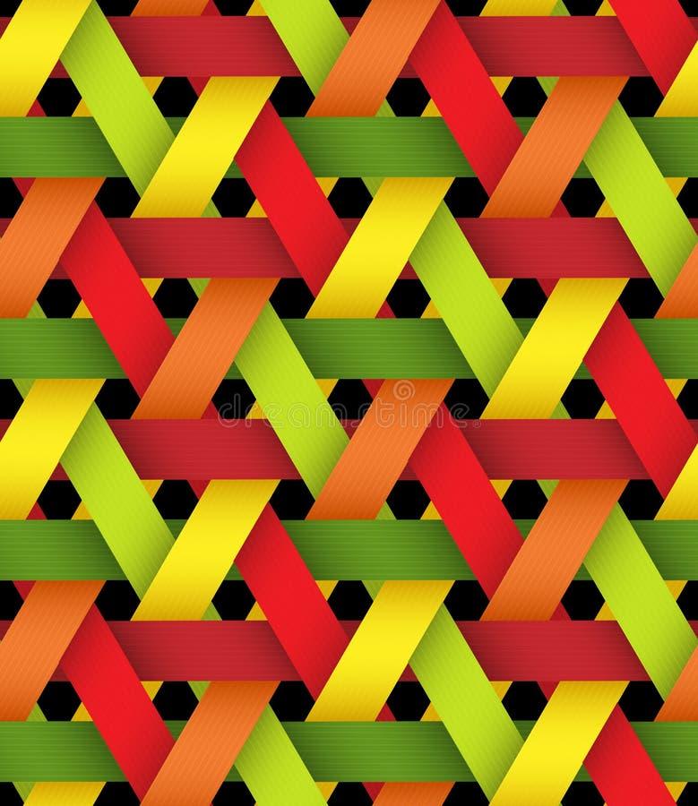 Artículo De Mimbre Plástico Brillante Hexagonal Ilustración del ...