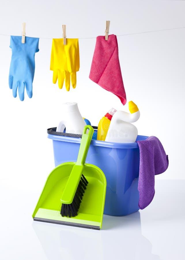 Artículos de la limpieza imagen de archivo