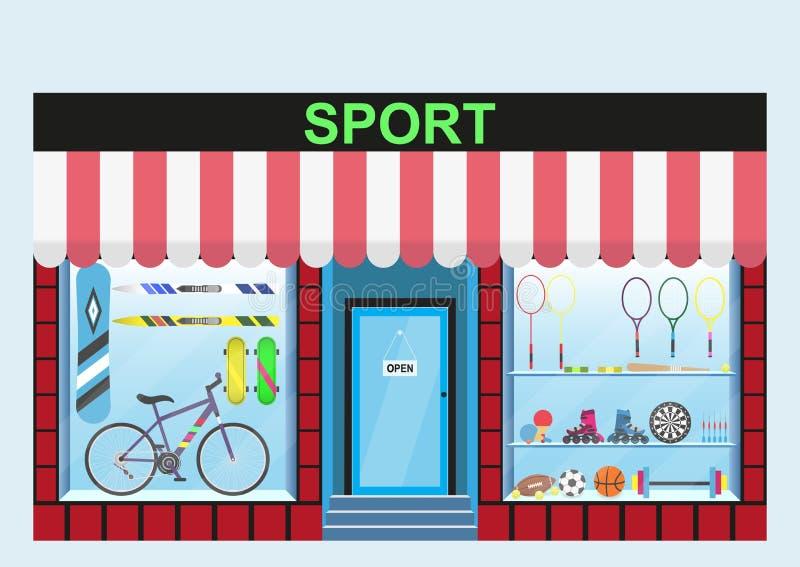 Artículos de los deportes de la tienda libre illustration