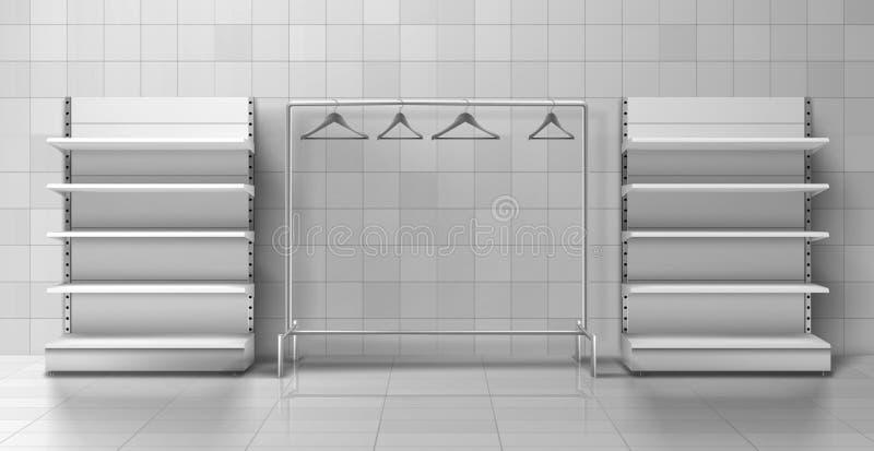 Artículos de vestimenta, muebles vectoriales realistas ilustración del vector