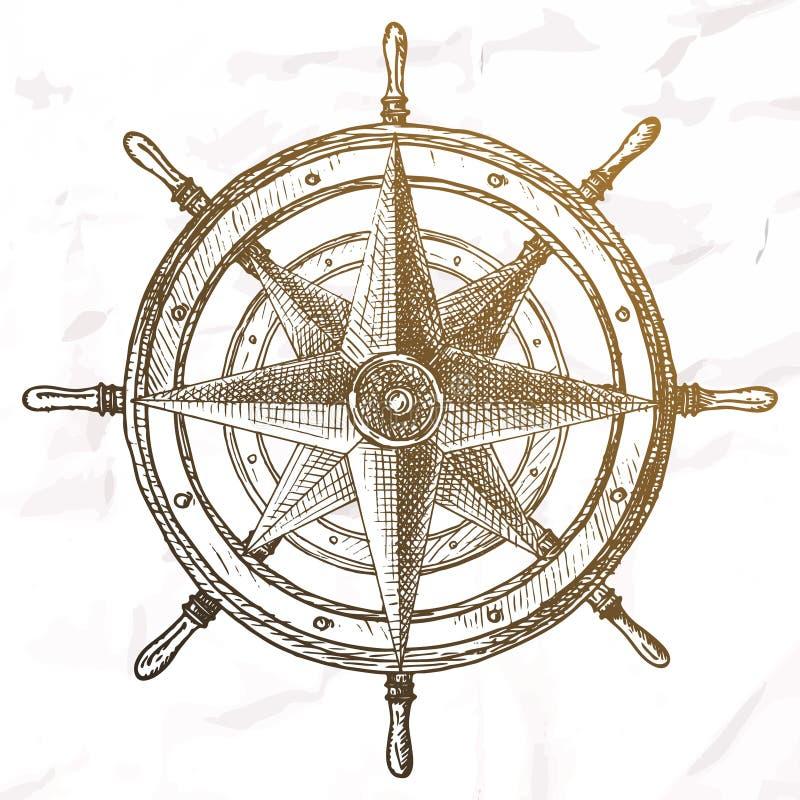Artículos en el tema marino ilustración del vector