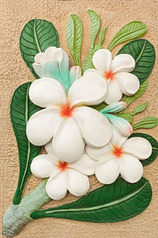 Artístico feito a mão da decoração da cerâmica da flor imagens de stock royalty free