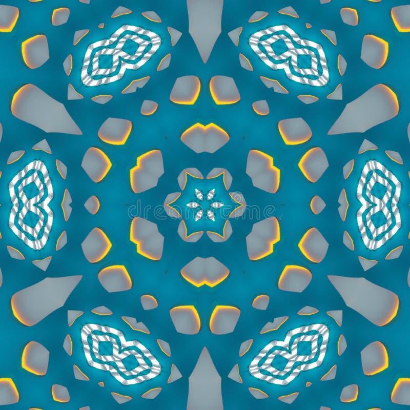 Artístico ilumine - as caras e flores azuis