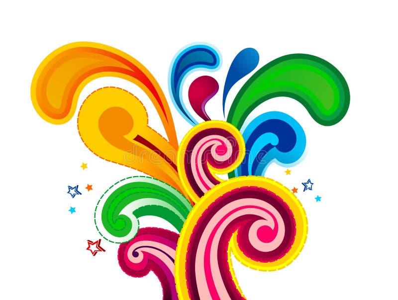 Artísticos coloridos abstractos estallan el ejemplo del vector imágenes de archivo libres de regalías