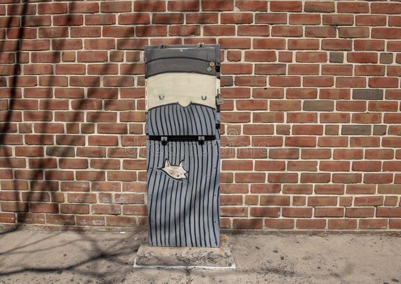 Art électrique de boîte par HaHaxParadigm, rue du sud, Philadelphie images stock