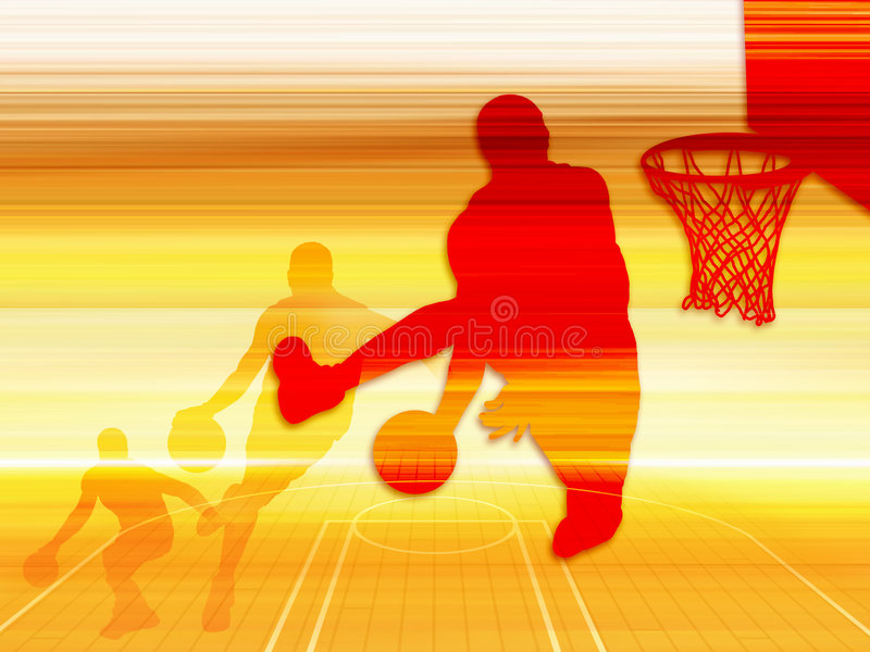 Art 1 de basket-ball illustration libre de droits