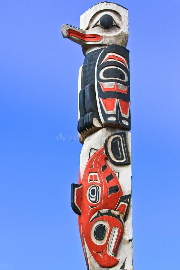 Art 2 de Pôle de totem de Tlingit de l'Alaska Huna image libre de droits