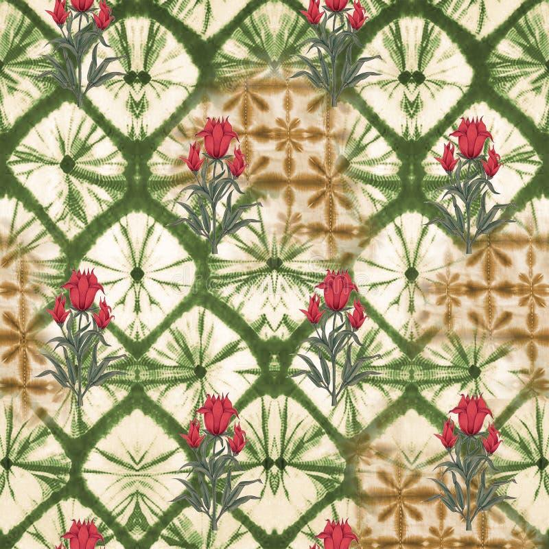Abstract batik tie-dye textile pattern - Illustration. Art for abstract batik tie-dye textile pattern - Illustration royalty free stock photography