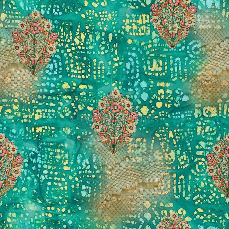 Abstract batik tie-dye textile pattern - Illustration. Art for abstract batik tie-dye textile pattern - Illustration royalty free stock images