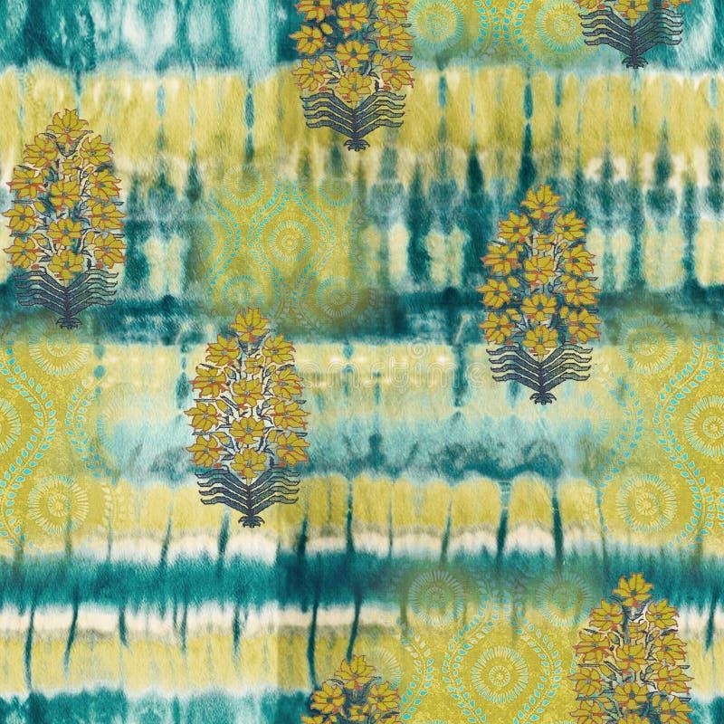 Abstract batik tie-dye textile pattern - Illustration. Art for abstract batik tie-dye textile pattern - Illustration stock photography