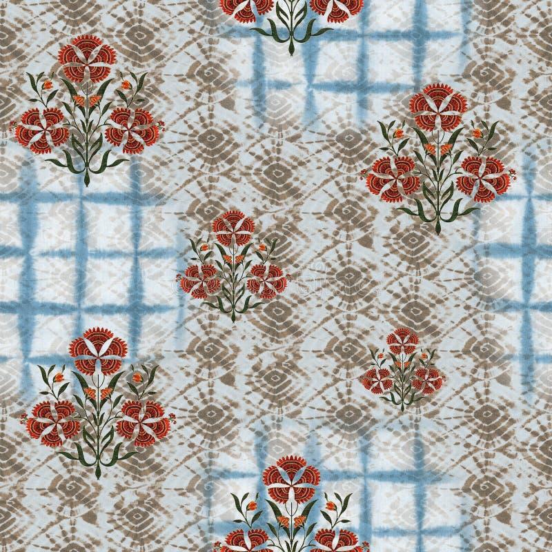 Abstract batik tie-dye textile pattern - Illustration. Art for abstract batik tie-dye textile pattern - Illustration royalty free stock photo