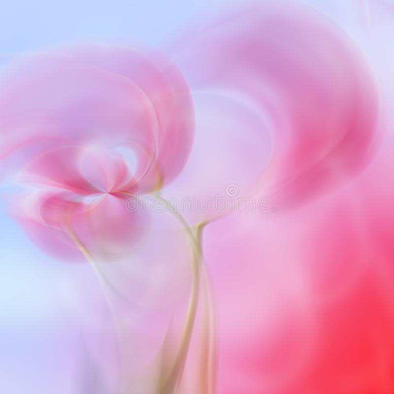 Art abstract floral blur pattern. Art abstract blue and pink floral blur pattern royalty free illustration