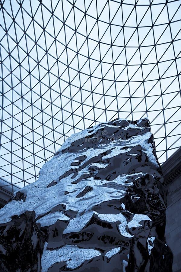 Art abstrait au-dessus de structure géométrique. images stock