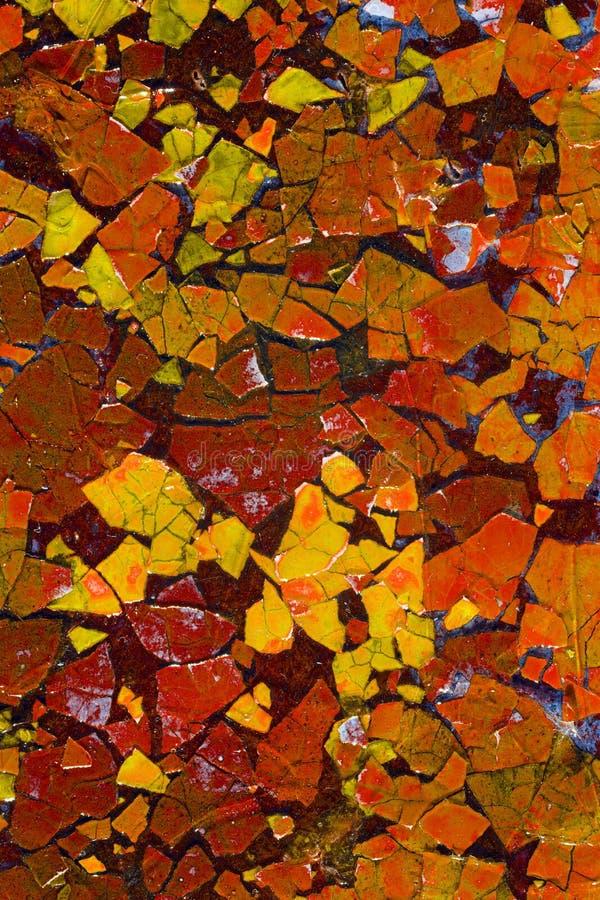 Art abstrait avec les coquilles peintes d'oeufs photographie stock