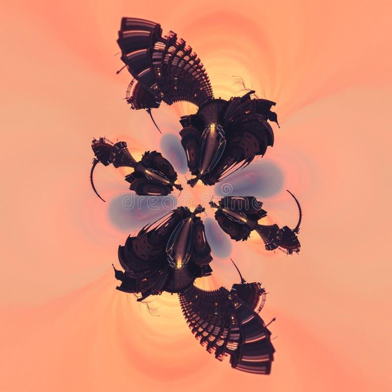 Art abstrait d'image de conception de spectre graphique de style illustration libre de droits