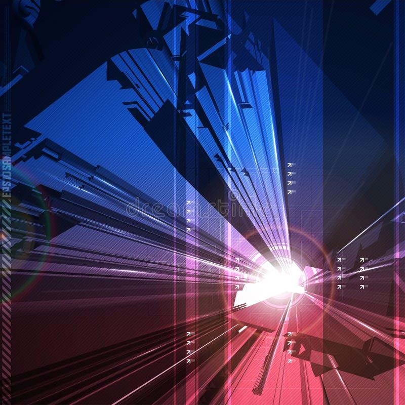 Art abstrait de Digitals illustration libre de droits