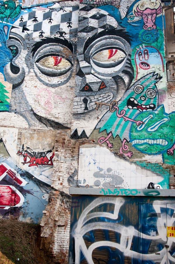 Art abstrait de Graffitti photos stock