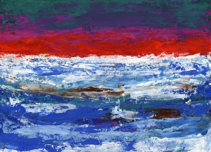 Art abstrait de style de gouache de peinture - taches et Br multicolores photographie stock libre de droits