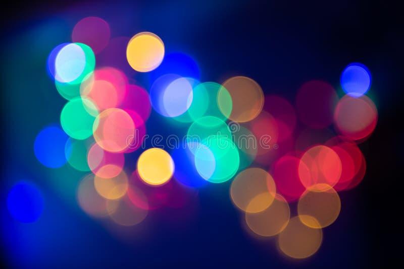 Art abstrait de tache floue de texture de bokeh de couleur claire photographie stock libre de droits