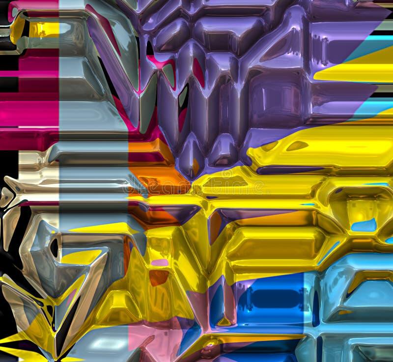 Art abstrait 1 de technologie vive générée par ordinateur illustration libre de droits