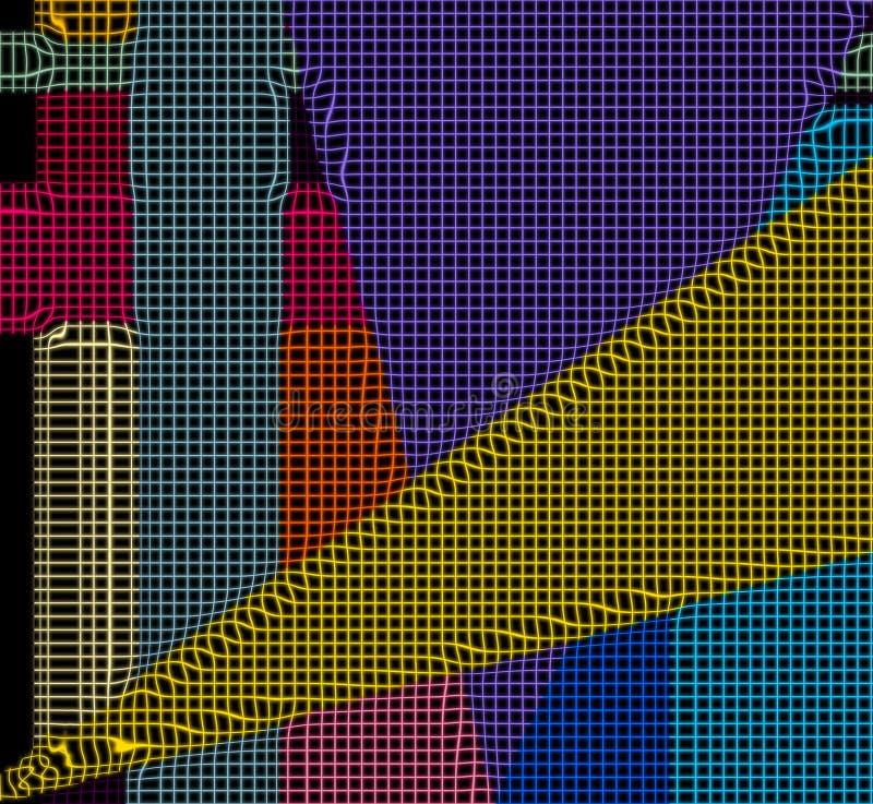 Art abstrait 3 de technologie vive générée par ordinateur illustration stock