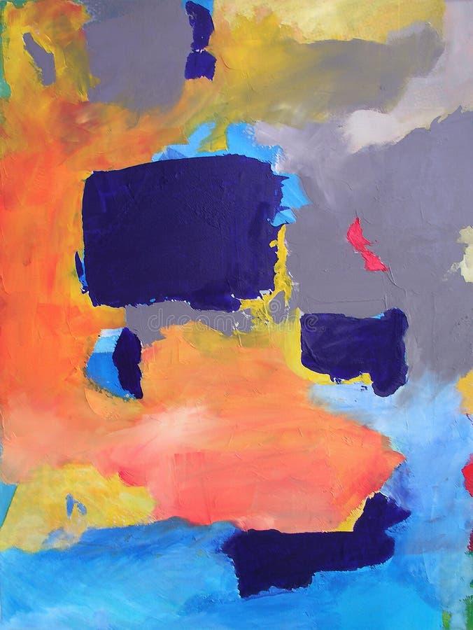 Art abstrait moderne - peinture - fond illustration de vecteur