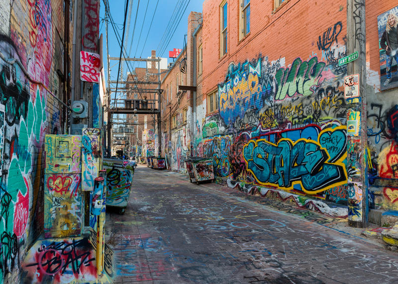 Art Alley royalty-vrije stock foto