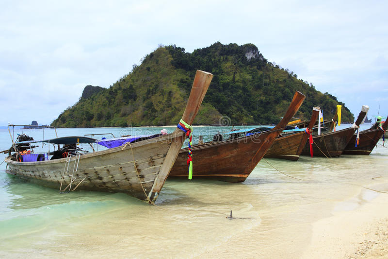 Art andaman Boot des langen Schwanzes Seein Krabi Provice südlich vom Th stockfotos
