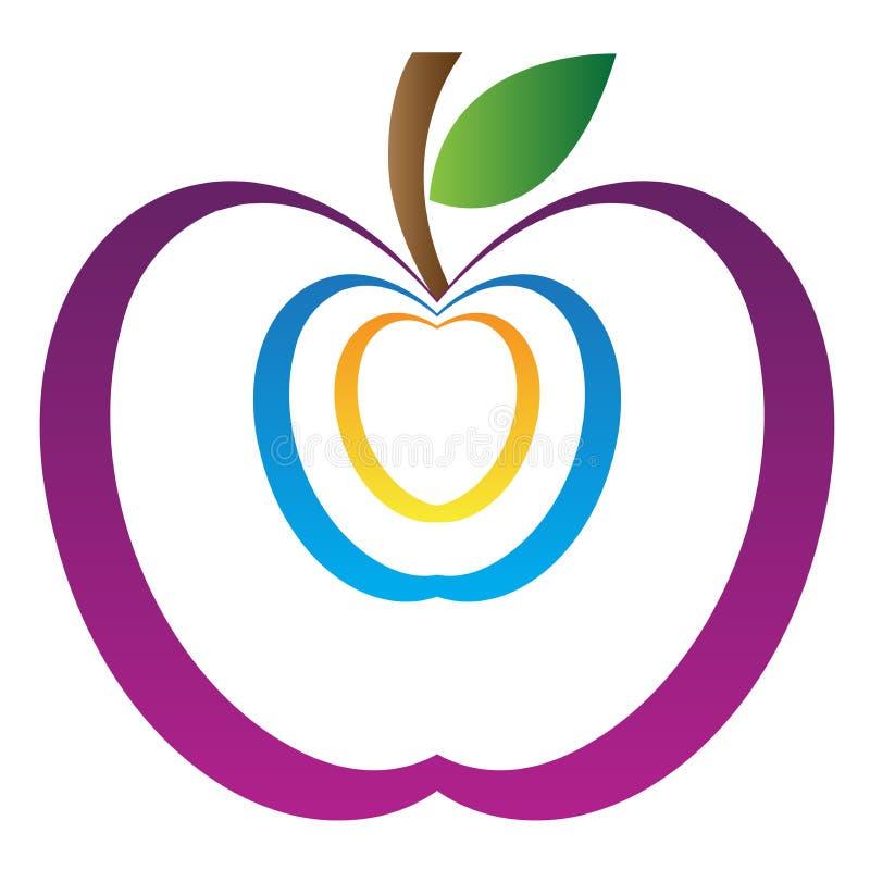 Art apple stock illustration