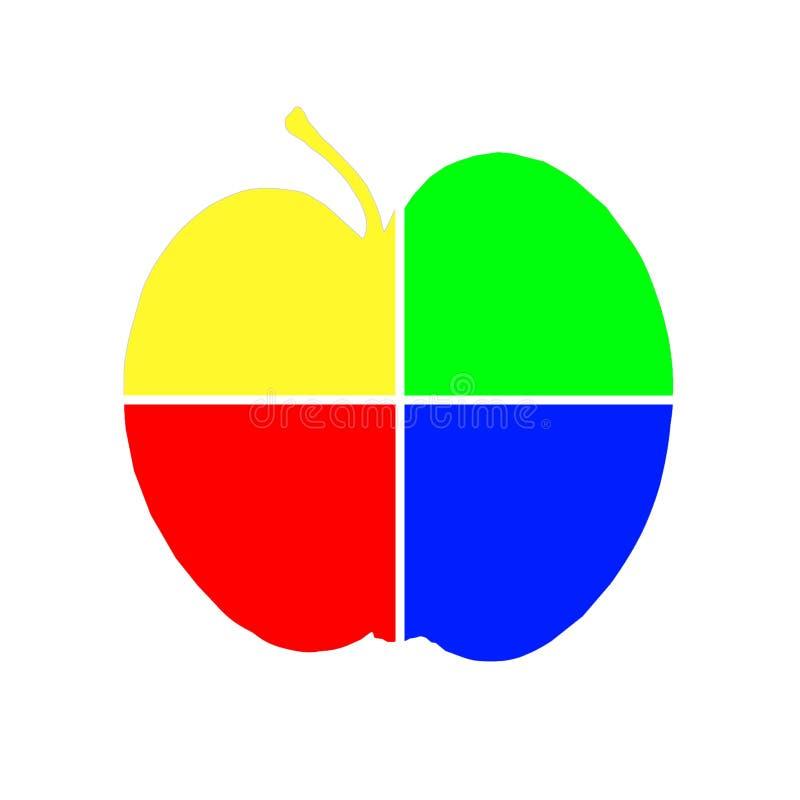 Download Art apple stock illustration. Image of coloured, backgrounds - 7323457