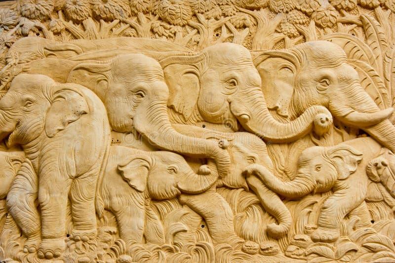 Art architecture of elephant stock image