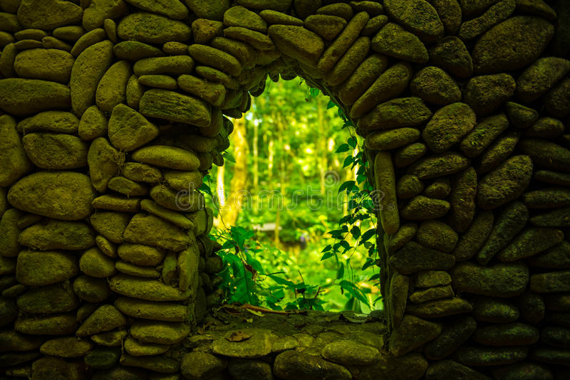 Art of architecture at Sacred Monkey Forest Sanctuary, Bali, Indonesia royalty free stock images