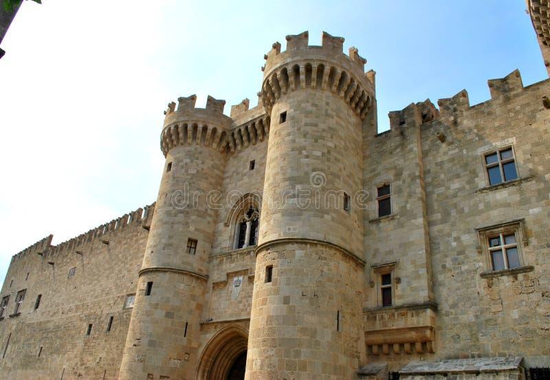 Art Architecture tegelstenPhodes Grekland slott arkivbilder